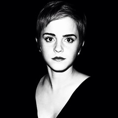 Emma Watson in Soho (si gross) Tags: blackandwhite london star famous soho harrypotter emmawatson thebox hermoine