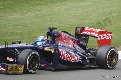 Jean-Eric Vergne in Qualifying for the 2013 British Grand Prix