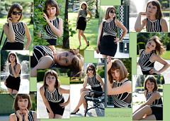 Marcella (PIXXELGAMES - Robert Krenker) Tags: girl sunglasses nikon posing skirt short nikkor