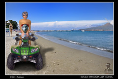 In spiaggia ad Ischia (ADRIANO ART FOR PASSION) Tags: photoshop robot campania avatar quad sl ischia spiaggia photoshopcreativo ringexcellence
