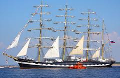 Kruzenshtern (Alexey Sabelnikov) Tags: blue sea boats sailing ship vessel sail tallship tallships riga regata kruzenshtern 2013