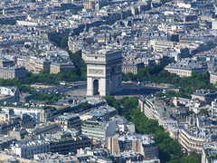 Arc de Triomphe and Place Charles de Gaulle (Simon_K) Tags: eiffeltower toureiffel eiffel tower top paris france pariswanderblogspotcouk urban birdseye high vantage lookingdown eifell eifel eiffell tour francais parisian parisien pariswander