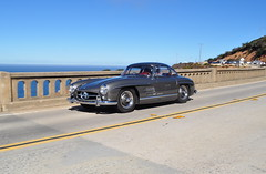 Sir Stirling Moss is driving this Mercedes Benz 300SL, Pebble Beach Concours Tour 2013 (SpeersM5) Tags: bridge beach creek tour pebble concours bixby 2013 pebblebeachconcourstour