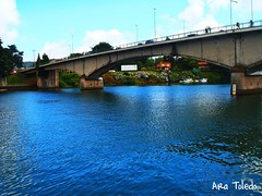 River Valdivia, Chile (Ara Toledo) Tags: chile bridge blue summer sky sun home nature water colors architecture river photography pier photo amazing dock day place vacations valdivia