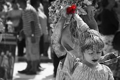 Gliniada (sylvie0928) Tags: life red people bw white black flower girl hat ceramic culture poland bn parade creepy tradition popular dressed