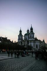 Prague (Melvinia_) Tags: street city urban church canon square place prague dusk crowd czechrepublic 1855mm foule f4 ville rpubliquetchque 18mm canoneos450d digitalrebelxsi