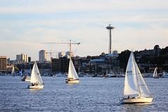Seattle (Lue Huang) Tags: seattle water sailboat canon landscape washington waterfront yacht citylife tamron gasworkspark vc 70300 600d