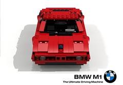 BMW M1 Supercar - 1976 (lego911) Tags: auto classic car germany model lego m1 render 71 m german bmw 1970s lamborghini coupe supercar challenge 1976 lugnuts povray moc ldd miniland midengine theultimatedrivingmachine lego911 sensational70s