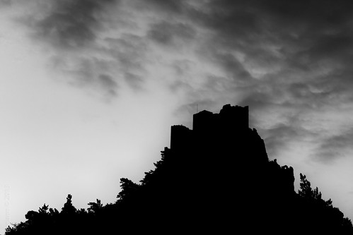 Dawn over castle