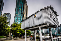 LightShed Sculpture by Liz Magor at Coal Harbor - Vancouver BC Canada (mbell1975) Tags: ca sculpture canada liz art public by vancouver harbor bc pacific northwest britishcolumbia columbia canadian british coal magor lightshed