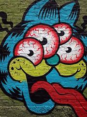 Googly-Eyed Cat (RichTatum) Tags: urban streetart art graffiti tag rich urbanart iphone tatum blogrodent richtatum iphoneography