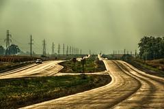 Route65_SouthBound_165 (Mark Stumme) Tags: road trees windmill birds clouds barn rural nikon midwest decay farm iowa silo powerlines heartland how bins hdr ruraldecay highline inmotion breadbasket farmstead powerpoles d600 middleamerica cornbelt electricpoles barnruins highlinepoles nikond600 steelbins hdrscene luminancehdr darktable farmrunis highlinepoleselectricpoles