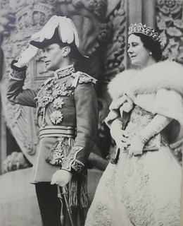 Photograph of King George VI and Queen Elizabeth
