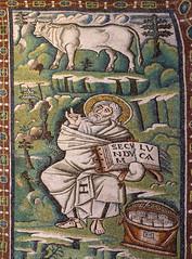 St Luke the Evangelist (Lawrence OP) Tags: mosaic basilica bull ox ravenna stluke evangelist sanvitale