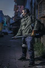 The zombie Hunter (Alas_Black) Tags: mexico mask zombie bat gas mexican hunter mascara veracruz survivor cazador apocalipsis jarocho zombiehunter sobreviviente 1zombiealavez unzombiealavez