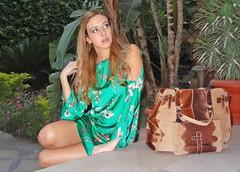 The Nathan and The Nina (Love by N) Tags: flowers brown flower green art fashion bag print mexico skull blog dress cross chloe jewellery heels earrings nina zara kooba wiwt ootd