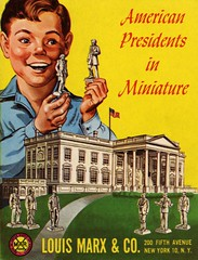 American Presidents in Miniature (Alan Mays) Tags: ephemera bookcovers books covers booklets advertising advertisements ads paper printed american presidents politicians politics political miniatures figurines toys whitehouse buildings children boys smiles happy holding hands louismarx companies manufacturers yellow illustrations logos 5thavenue fifthavenue newyorkcity ny 1960s old vintage typefaces type typography fonts