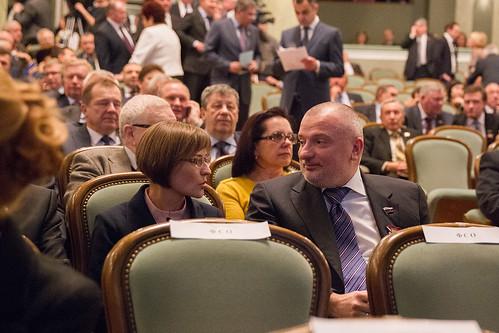 Члены Совета Федерации РФ Людмила Бокова и Андрей Клишас