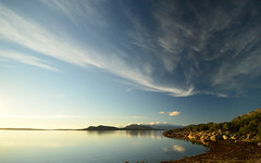 #0760 The Sound of Silence (Fjordblick) Tags: blue sky mountains water norway clouds landscape norge wasser norwegen himmel wolken berge fjord blau landschaft norsk northernnorway stokkasjøen flickrbronzetrophygroup infinitexposure