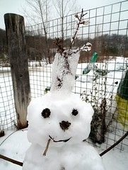 Icy Crown (Georgie_grrl) Tags: winter snow toronto ontario cute snowman crown icy thebrickworks hangingwithmichael canonpowershotelph330hs thenewdarkpinkside