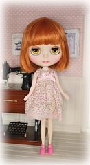 Petite Blossoms Dress (Amy Lilley) Tags: hello holiday cute girl sunshine japan doll factory dress amy handmade kitty kawaii zebra blythe takara obvious lilley fashoon
