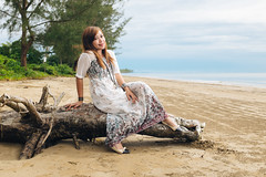Mila (rifqi dahlgren) Tags: ocean sea portrait people beach indonesia warm indonesian strobist rifqisphoto x100s