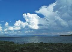 YNP ~ Yellowstone Lake (karma (Karen)) Tags: mountains clouds lakes sage wyoming bushes yellowstonelake yellowstonenp usparks