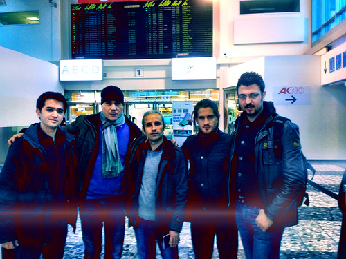 Our tour is over! Two bussy weeks with good music and lot of fun! With Anadolu Quartet at the airport in Vienna.