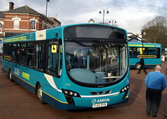 Arriva Midlands North 3793 FL63DYB VDL SB200 Wright Pulsar (chrisbell50000) Tags: new bus town 26 branded centre north route deck cannock 25 single wright launch brand staffordshire pulsar branding midlands decker arriva vdl 3793 sb200 chrisbellphotocom fl63dyb