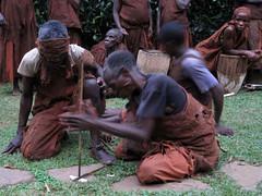 Batwa making fire 207 (David Bygott) Tags: africa uganda 2014 nge batwa buhoma davidbygott