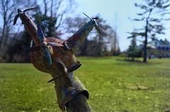 Propeller Sculpture. (DigitalCanvas72) Tags: blue sky sculpture lake green ice water grass metal bronze nikon artistic snake 24mm nikkor propeller 28d d7000