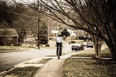 Biking through the neighborhood (Razan Altiraifi | ALT digital photography) Tags: bike sepia neighborhood biking