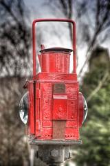 Red Lamp (gary8345) Tags: light red lamp warning bury railway lancashire 2014 ramsbottom eastlancashirerailway eastlancsrailway