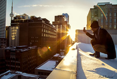 The Magic Hour (DonCharleone) Tags: sunset toronto cntower rooftops chasinglight caughtgramming