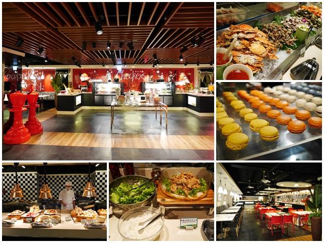 台北車站美食凱撒大飯店checkers自助餐廳吃到飽螃蟹馬卡龍page