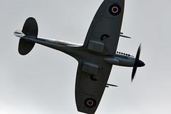 Spitfire (Bernie Condon) Tags: classic plane vintage flying fighter display aircraft military airshow ww2 duxford british spitfire preserved southampton raf warplane woolston supermarine flyinglegends rjmitchell