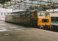 """BR Two-Tone Green Class 47/8, D1648 / 47851 """"Traction Magazine"""" (37190 """"Dalzell"""") Tags: celebrity green br spoon brush crewe duff vt virgintrains sulzer twotone britishrailways class47 type4 47064 47639 47851 class478 d1648 tractionmagazine"""