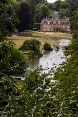 Chateau de Sauvage (Nicolas Bondue) Tags: summer france bird nature water rose canon duck eau kangaroo chateau t paysage 70200 verdure sauvage biche kangourou flamand aniaml animalier wallabi 60d emanc