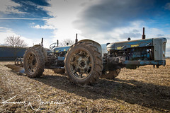 Doe Dual Drive (Kenny Wharton) Tags: agriculture blue fordsonmajor intothesun fordson 201702northnottsploughing tractor vehicle doe canon1635f4lisusm e1a newmajor oldcantley england unitedkingdom gb equalwheel kennywhartonphotography 4wd