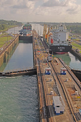 Ships going through Panama Canal (joybidge (back from vacation)) Tags: panamacanal naturepatternscanada trishcanada tsmay62013