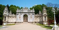 Dolmabahe Palace gardens (Nina_Ali) Tags: summer turkey turkiye istanbul palaces dolmabahepalace