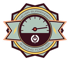 Solo71 - FOREVER (Solo 71) Tags: design fight marathon icon desire badge strong lightning distance vector fuel freelance
