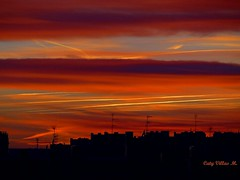 Cielo en Mstoles (Caty V. mazarias antoranz) Tags: espaa spain galicia cielos atardeceres pontevedra evenings anocheceres islasces porlanoche porlatarde ofacho