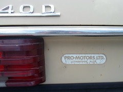 Pro Motors LTD dealer badge (dave_7) Tags: classic car mercedes benz 1974 motors badge pro ltd dealer 240d
