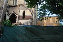 "St. James Catholic Church Demolition (artistmac) Tags: city urban chicago history stone ball flying illinois catholic arch destruction south side failure shortsighted gothic demolition steeple il neighborhood spire nave southside adapt wrecking rectory buttresses apse archdiocese cruciform ball"" stjamescatholicchurch"