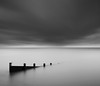 Fenced In (James ~ Anderson) Tags: sea white black glass rain clouds canon coast big long exposure east 09 lee pro grad essex shoeburyness defence stopper 6d 1740l 06nd