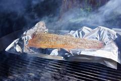 Dinner - Hot smoked salmon (osto) Tags: food denmark europa europe sony grill eat zealand scandinavia danmark weber slt a77 sjlland  osto alpha77 osto august2013