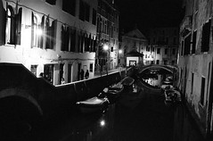 Venice (Peter Gutierrez) Tags: street venice light shadow bw italy white black streets building film public water architecture night contrast buildings dark evening noche canal photo italian europe italia european republic nocturnal time nacht pavement canals sidewalk nighttime latin gutierrez venetian serene venezia nuit nocturne notte venetia italians italiano veneto canali venitians peter venezsia friulian gutierrez vignesie