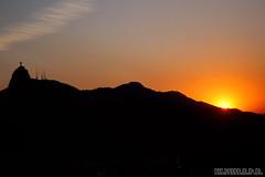 Christ and the sunset (Klauss Egon) Tags: ocean sunset pordosol brazil praia beach rio brasil riodejaneiro canon mar cristoredentor corcovado copacabana cablecar sugarloaf cristo pãodeaçucar bondinho baíadeguanabara