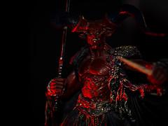 Hellfire (Tk_White) Tags: red darkness flash olympus lord demon devil 18 legend 45mm omd strobe em5 sb700
